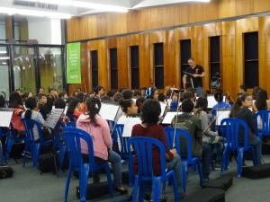 Ensayo parcial de cuerdas de la Orquesta Infantil